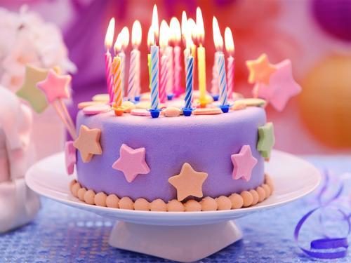生日快乐卡通图案壁纸_高贵的生日蛋糕图片大全