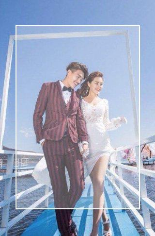 快闪旅拍高端时尚婚礼电子请柬欧式轻奢星光结婚请柬