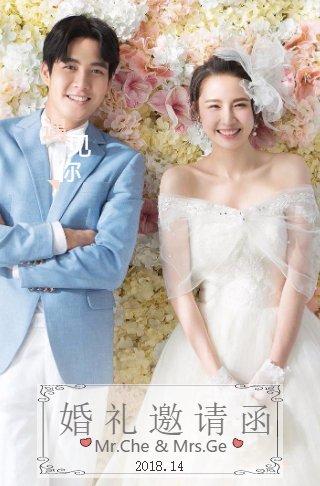 韩式简约婚礼请柬 电子喜帖